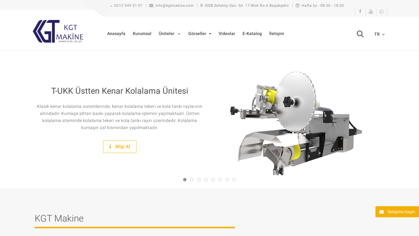KGT Makine Resmi Web Sitesi